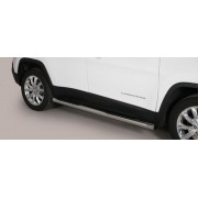 TUBES MARCHE PIEDS INOX D.76 JEEP CHEROKEE 2014- - accessoires 4x4 MISUTONIDA