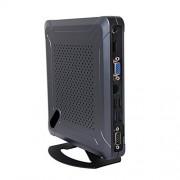 HUNSN Mini PC,Desktop Computer,with Windows 10 Pro/Linux Ubuntu Support,Intel Core I5 4200U,(Black), BH06,[COM/VGA/HDMI/LAN/6USB2.0/2USB3.0/Fan],(4G RAM/64G SSD/500G HDD)