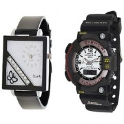 MTG Men and Squere Dial Cross Butterfly Black Women Watches Couple for Men and women