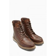 Mens Next Apron Cleat Boot - Brown