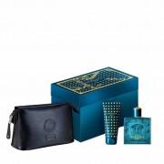 Eros - Versace Eros Uomo 100 ml EDT VAPO + 100 ml Shower Gel + Borsello gift set