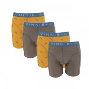 Vinnie-G boxershorts Wakeboard Grey Print 4-pack-M