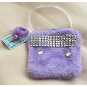 JUST LIKE MY MUMS Girls Purple evening bag with a Free Ponio made in the UK