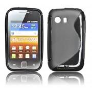 Coque Silicone Motif S Noir _ Samsung Galaxy Y S5360 Pour Le Samsung Galaxy Y S5360