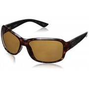 Costa del Mar Women's Inlet IT 76 OGP Polarized Round Sunglasses, Retro Tortoise w/Black, 58.0 mm