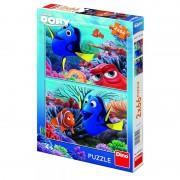 Puzzle 2 in 1, In cautarea lui Dory, 66 piese, 4-8 ani