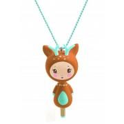 Naszyjnik w kształcie jelonka, biżuteria dla dziewczynki DJECO DD03801