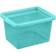 Cutie depozitare cu capac 13 litri albastru deschis