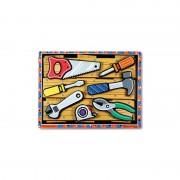 Puzzle lemn in relief uneltele