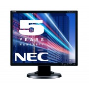 NEC MultiSync EA193Mi black 19' LCD monitor with LED backlight, IPS panel, resolution 1280x1024, VGA, DVI, DisplayPort, speakers, 110 mm height adjustable