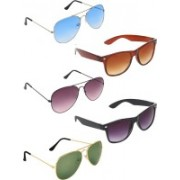 Zyaden Aviator, Aviator, Aviator, Wayfarer, Wayfarer Sunglasses(Blue, Violet, Green, Brown, Black)