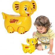 Toy Cubby Light-up Bump and Go Funny Elephant with Flashing Lights and Sound