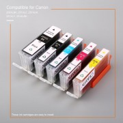 EY 5 Pack De Cartuchos De Tinta No OEM Para Canon PGI-250XL CLI-251XL Pixma MG5420-5 Colores