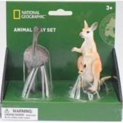 Set 2 fingurine National Geographic Cangur si Strut