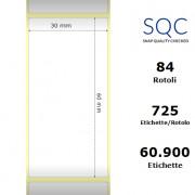 Etichette SQC - Carta termica protetta (bobina), formato 30 x 60