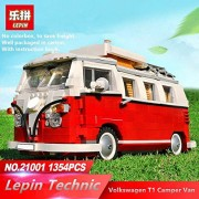 Generic Lepin 21001 1354PCS Building Bricks Volks wagen Camper Van Blocks Model Car Compatible Juguetes Lepin Technic Kids Toys Gifts Volkswagen