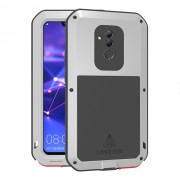 LOVE MEI Dust-proof Shock-proof Splash-proof Powerful Metal + Silicone Defender Case for Huawei Mate 20 Lite / Maimang 7 - Silver