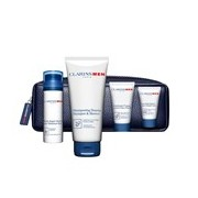 Coffret men bálsamo 50ml + champô 200ml + gel limpeza 30ml + creme mãos 12ml - Clarins