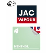 Lichid Tigara Electronica Jac Vapour Menthol 10ml cu Nicotina, 50%VG 50%PG, Fabricat in UK