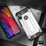 Hibrid Armor telefon tok hátlap tok Ütésálló Robusztus hátlap tok telefon tok Xiaomi redmi 6 NOTE Pro ezüst