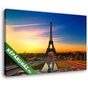 Napfelkelte az Eiffel-toronynál (40x25 cm, Vászonkép )