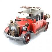 Masina de pompieri clasica, macheta din metal