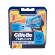 Gillette Fusion Proshield Chill náhradní hlavice pro snadné a pohodlné oholení 8 ks pro muže