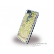 Husa de protectie Guess iPhone 6 Plus/6S Plus/7 Plus Liquid Glitter Palm Spring Hard, auriu