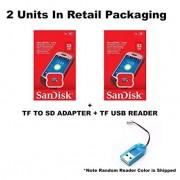 2 PACK - SanDisk 32GB MicroSDHC Memory Flash Card Class 4 Micro SD SDHC SDSDQM-032G Wholesale Lot 32GB x 2 = 64GB + BONU