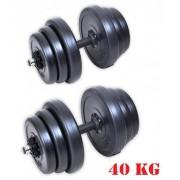 Zestaw hantli 2x20 kg