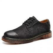 CHENXD Zapatos, Zapatos de Trabajo Formales de Oxford Suela Oxford de Negocios, Elegante, clásico, Suave y cómodo, para Hombres (Color : Dark Gray, tamaño : 24.5)