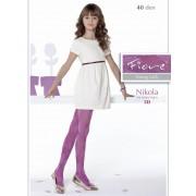 Fiore - Trendy floral pattern childrens tights Nikola 40 denier
