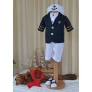 Costumaș Botez Little Sailor - 6 piese