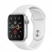 Apple Watch S5 40mm Silver Alu White Sport MWV62