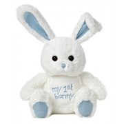Aurora World My 1st Bunny Plush, Blue, 10""