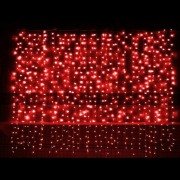 Perdea Luminoasa Craciun 8x1m 360LED Rosii FA IP44 Joc Flash P 9018