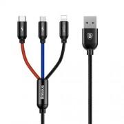 Cablu Date Si Incarcare 3-in1 Micro USB Lightning Si Type C iPhone Samsung Huawei Universal