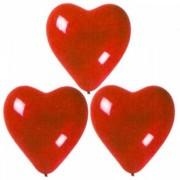 Ballonger hjärta röd 10-pack
