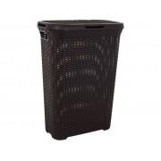 Curver 00709-210-00 Rattan hatású szennyestartó 40L sötétbarna