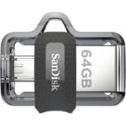 SanDisk Ultra Dual SDDD3-064G-I35 64 GB OTG Drive(Black, Type A to Micro USB)