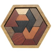 Kids Puzzles Wooden Toys Tangram Jigsaw Board Geometric Shape Children Educational Toy