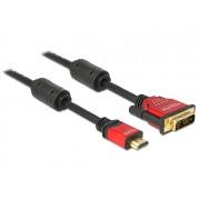 DeLock HDMI male to DVI-D (Single Link) male kábel 3m Black 84343