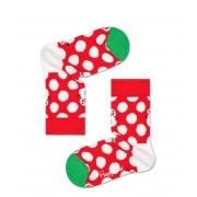Happy Socks Sokken Big Dot Snowman Rood