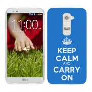 Husa LG G2 Mini Silicon Gel Tpu Model Keep Calm Carry On