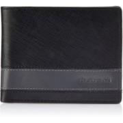 Fastrack Men Black, Grey Genuine Leather Wallet(6 Card Slots)