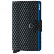 Secrid Porta Carte con Clip linea Cubic in Pelle Black e Blue con RFID