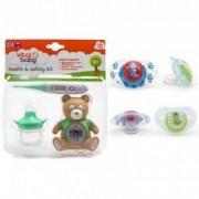 Pachet Kit ingrijire+Set 2 suzete 6+ Vital Baby Model - pentru baieti