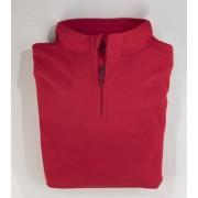 Fleeceshirt mit Zipper und Stehbund, superweich, leicht und warm, Farbe grau, Gr.XL