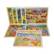 Set 8 puzzle-uri cu imagini diferite, 24 de piese WD 7008