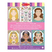 Melissa & Doug Make-A-Face Sticker Pad: Sparkling Princesses - 15 Faces, 4 Sheets